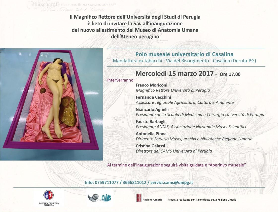 Inaugurazione del Museo di Anatomia Umana dell'Università degli Studi di Perugia