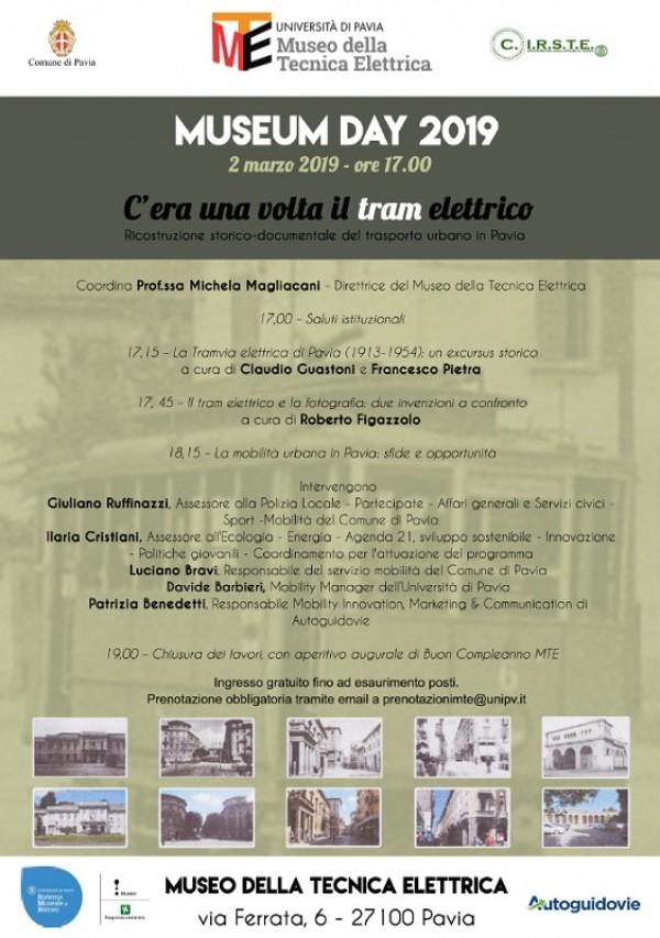 """Museum Day 2019 """"C'era una volta il tram elettrico. Ricostruzione storico-documentale del trasporto urbano in Pavia"""""""