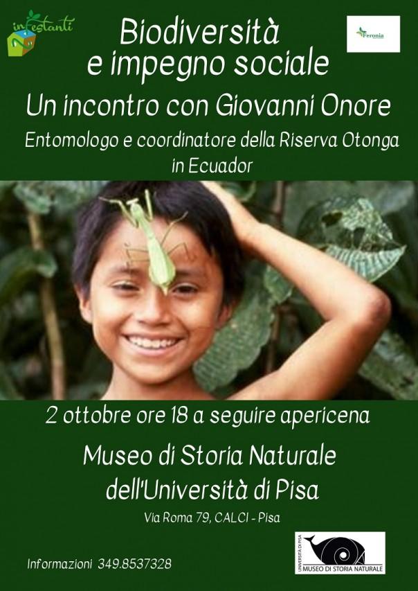 BIODIVERSITÀ E IMPEGNO SOCIALE - Incontro sulla biodiversità dell'Ecuador