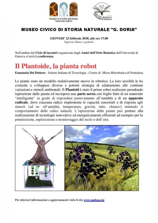 IL PLANTOIDE, LA PIANTA ROBOT