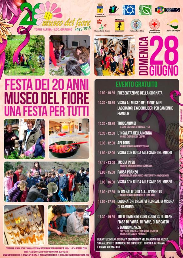 I 20 anni del Museo del Fiore: facciamo Festa!!!