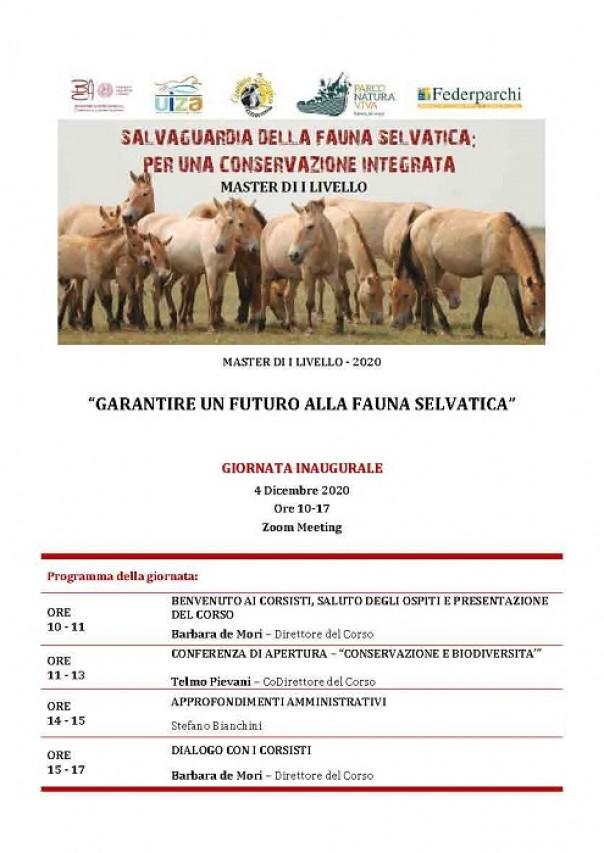 Master in Salvaguardia della fauna selvatica: per una conservazione integrata - Giornata inaugurale