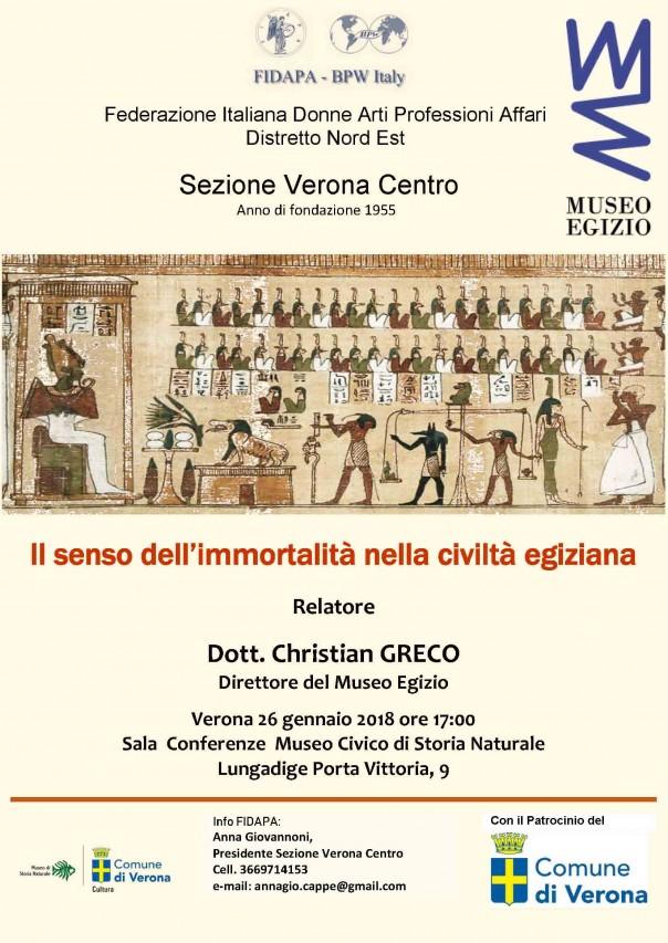 Conferenza: Il senso dell'immortalità nella civiltà egiziana