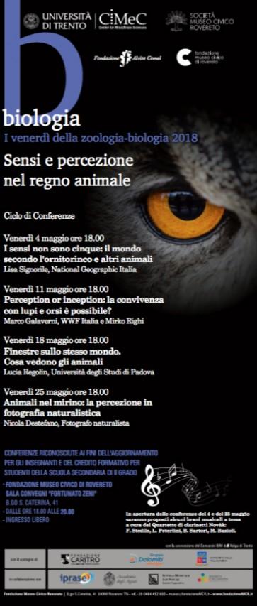 I Venerdì della Zoologia - Biologia 2018