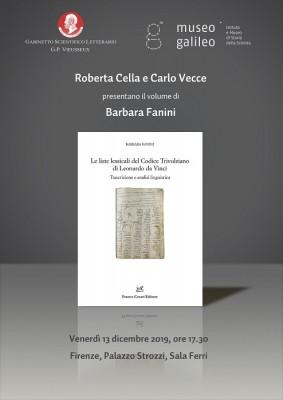 Le liste lessicali del Codice Trivulziano di Leonardo da Vinci