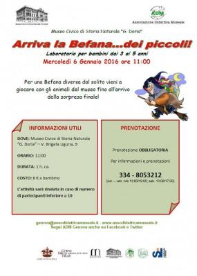 Arriva la Befana al Museo Doria!