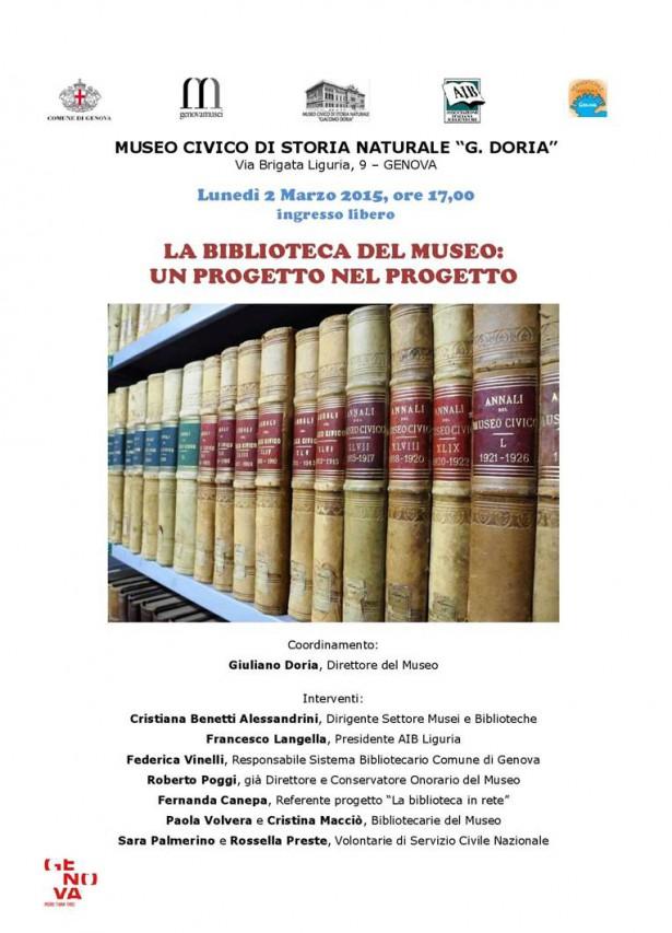 LA BIBLIOTECA DEL MUSEO: UN PROGETTO NEL PROGETTO