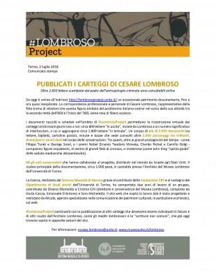 PUBBLICATI I CARTEGGI DI CESARE LOMBROSO