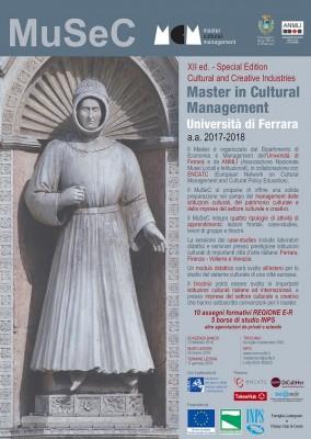 MuSeC - Master in Cultural Management - UNIVERSITA' DI FERRARA