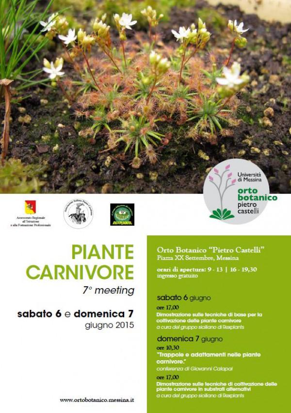 "Piante carnivore. 7°  meeting all'Orto Botanico ""Pietro Castelli"""