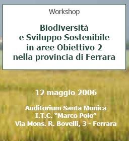 Biodiversità e Sviluppo Sostenibile in Aree Obiettivo 2 della provincia di Ferrara