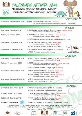 Calendario attività ADM 2018