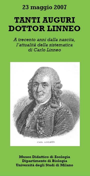 Tanti auguri dottor Linneo - A trecento anni dalla nascita, l'attualità della sistematica di Carlo Linneo