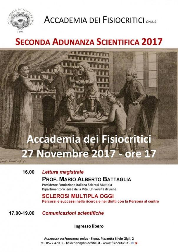 Seconda Adunanza Scientifica con lettura magistrale del Presidente della Fondazione Italiana Sclerosi multipla