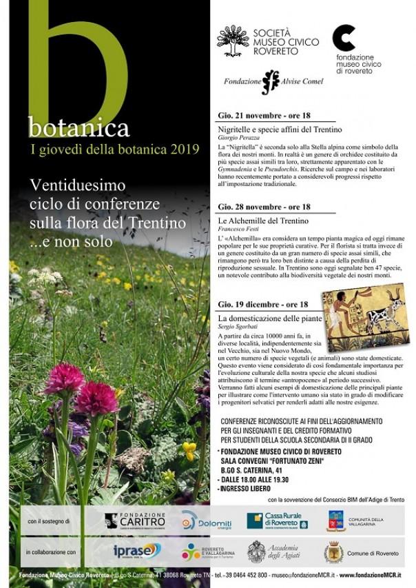 I giovedì della Botanica 2019