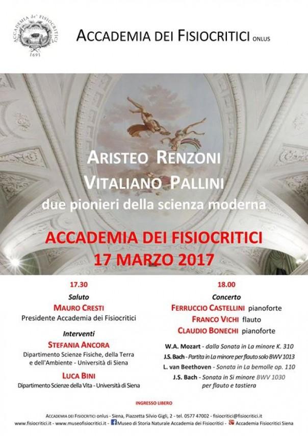 Ricordo di Aristeo Renzoni e Vitaliano Pallini - due pionieri della scienza moderna