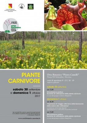 "Piante carnivore - 9° meeting all'Orto Botanico ""Pietro Castelli"""
