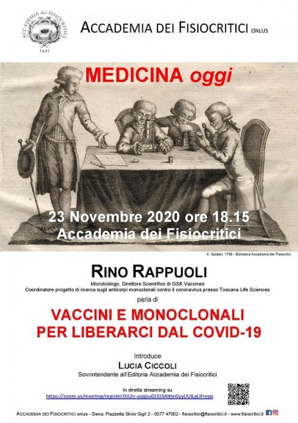 Conferenza di Rino Rappuoli di oggi anche su Youtube