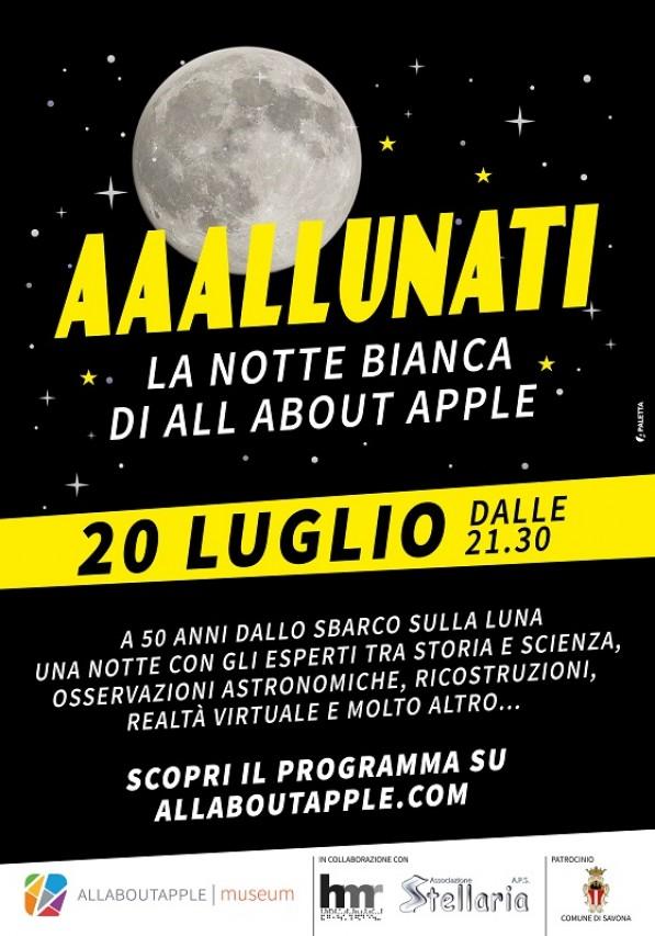 La notte bianca di All About Apple per i 50 anni dello sbarco sulla luna