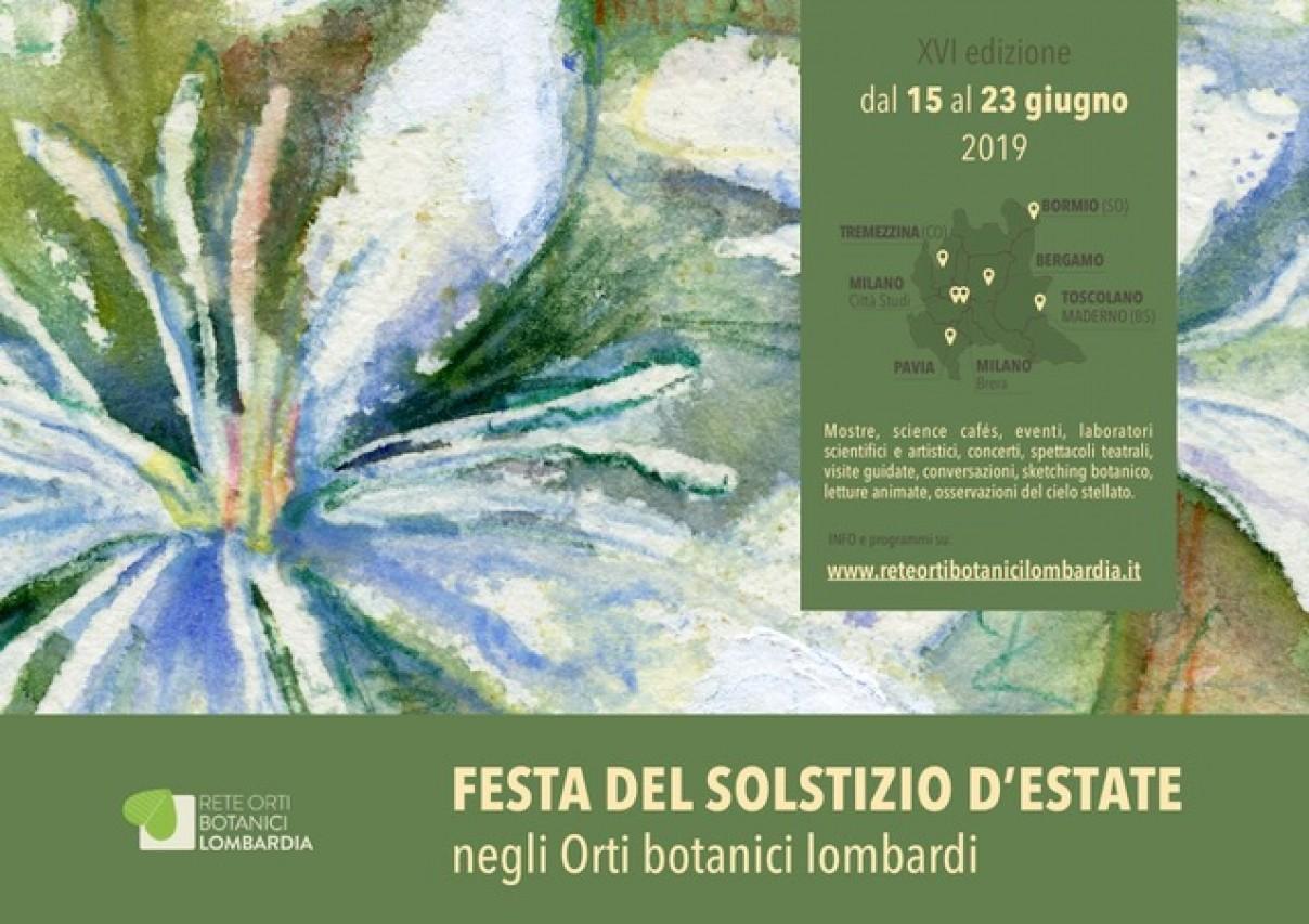 ARTE E SCIENZA IN GIARDINO per la FESTA DEL SOLSTIZIO D'ESTATE negli Orti Botanici della Lombardia – XVI edizione