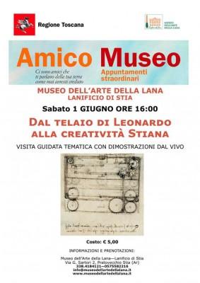 Amico Museo 2019: Dal Telaio di Leonardo alla Creatività Stiana