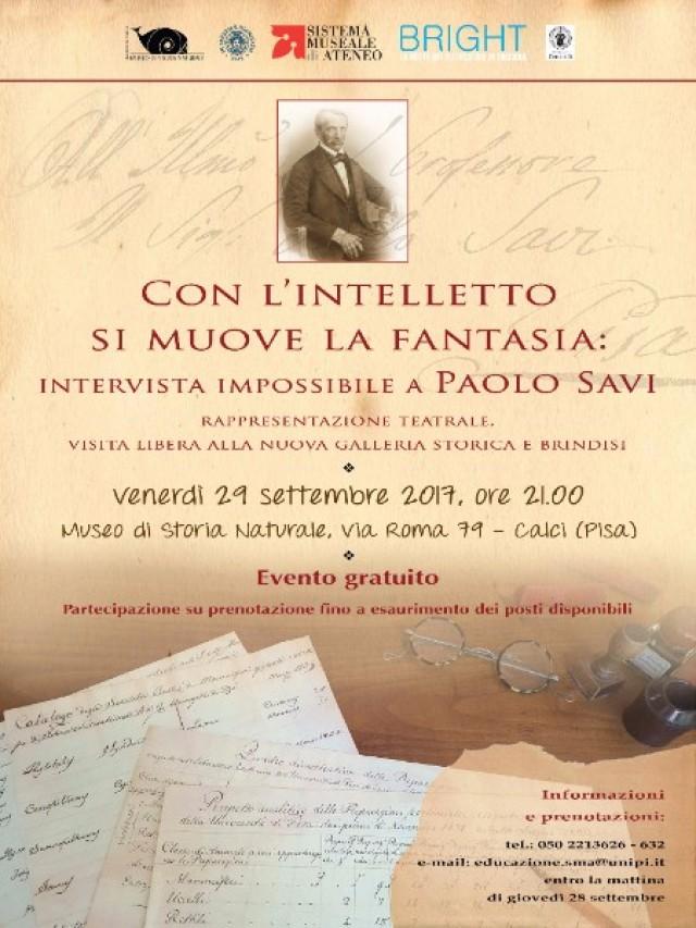 Con l'intelletto si muove la fantasia: intervista impossibile a Paolo Savi