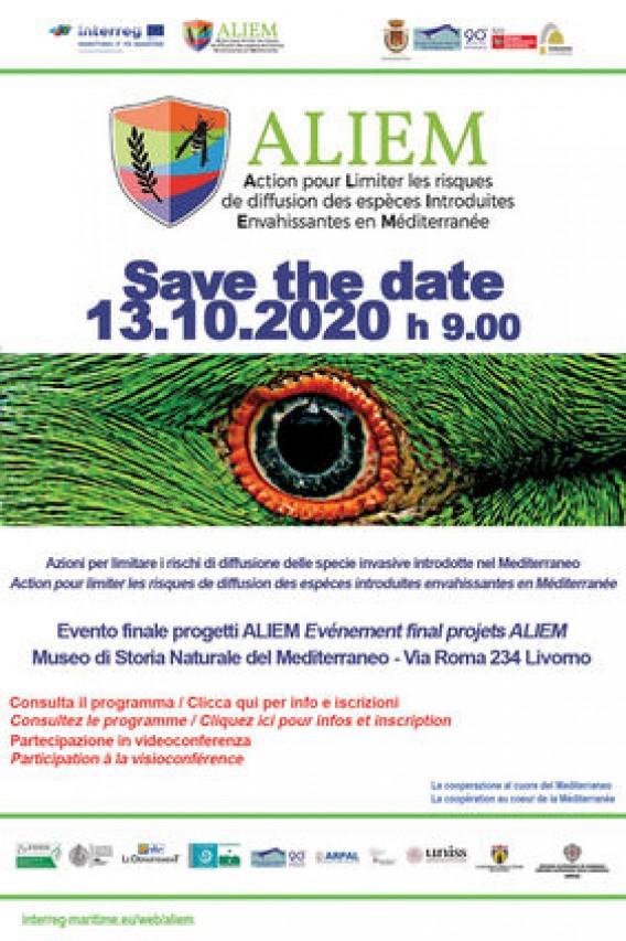 """Evento conclusivo del progetto ALIEM: """"Azioni per limitare il rischio di diffusione delle specie aliene invasive introdotte nel Mediterraneo"""""""