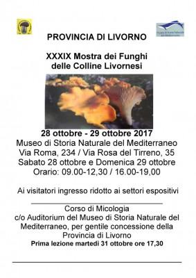 XXXIX Mostra dei funghi delle Colline Livornesi