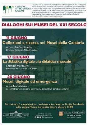 Dialoghi sui Musei del XXI Secolo – 11, 17 e 18 giugno in diretta Facebook