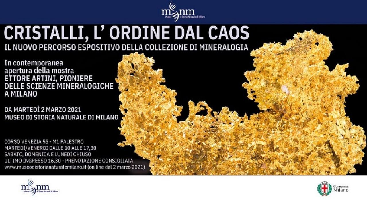 Riapertura del Museo di Storia Naturale di Milano e del nuovo percorso di Mineralogia