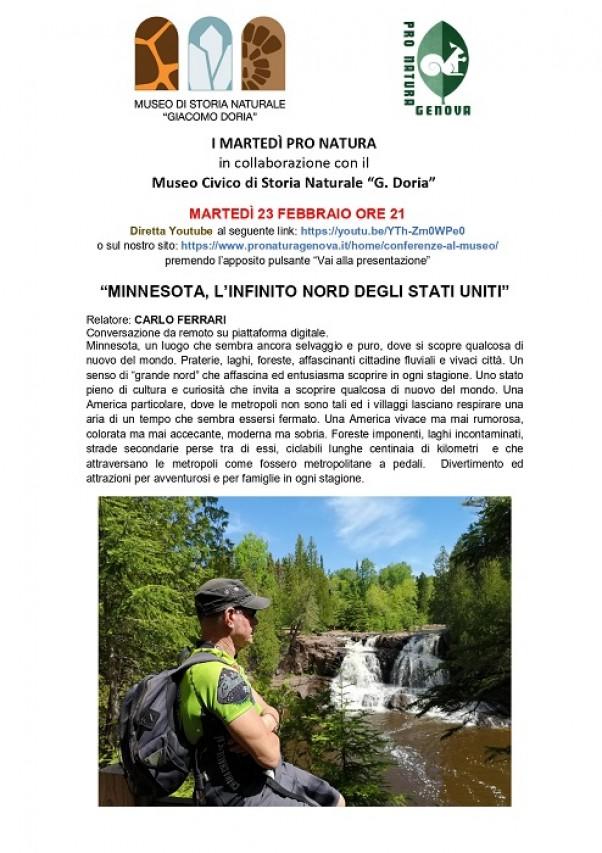 """""""MINNESOTA, L'INFINITO NORD DEGLI STATI UNITI"""" - Conferenza on line"""