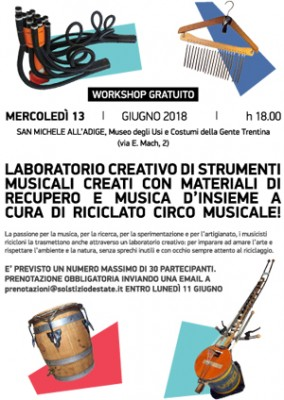 Solstizio d'estate 2018: al Museo laboratorio di strumenti musicali