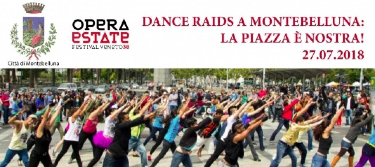 DANCE RAIDS A MONTEBELLUNA. LA PIAZZA è NOSTRA! DANZA SOTTO L'ECLISSI DI LUNA.