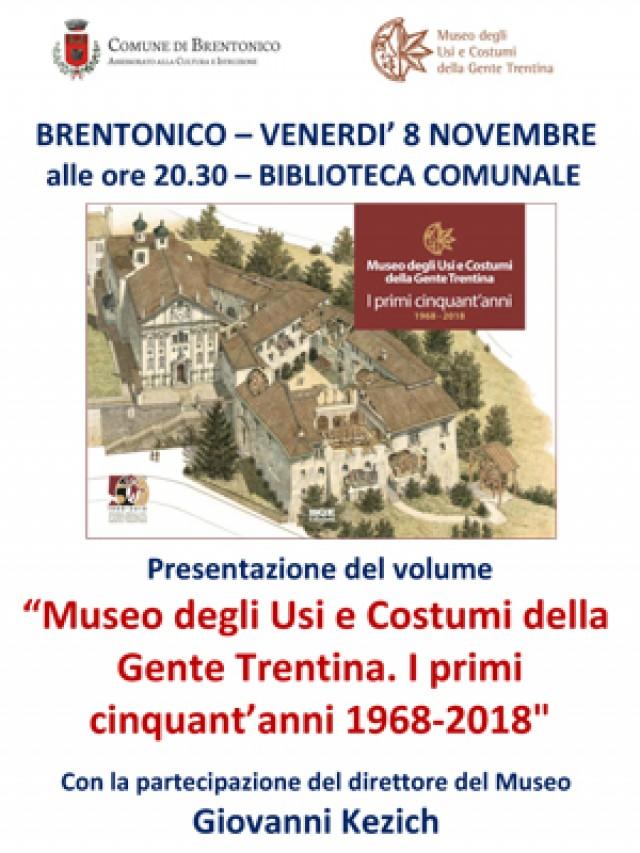 """""""I primi cinquant'anni 1968-2018"""": presentazione a Brentonico"""