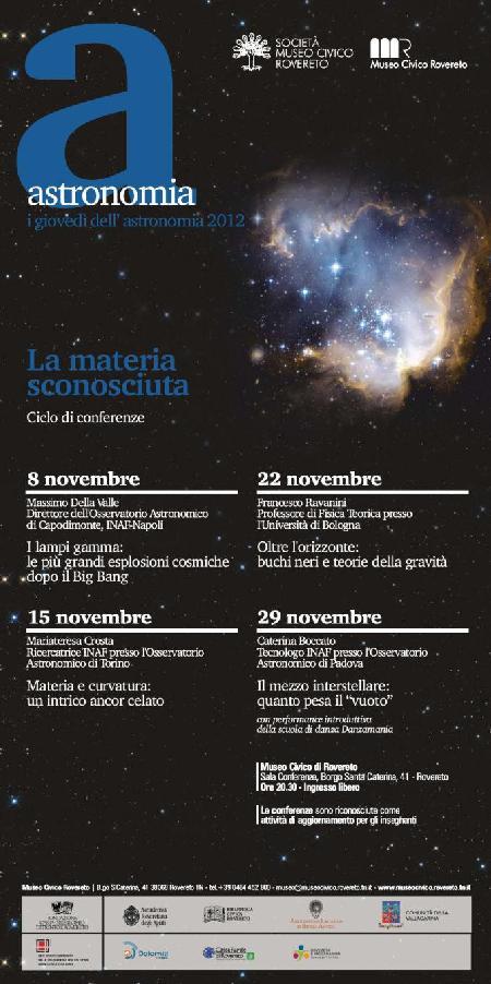 I giovedì dell'Astronomia 2012