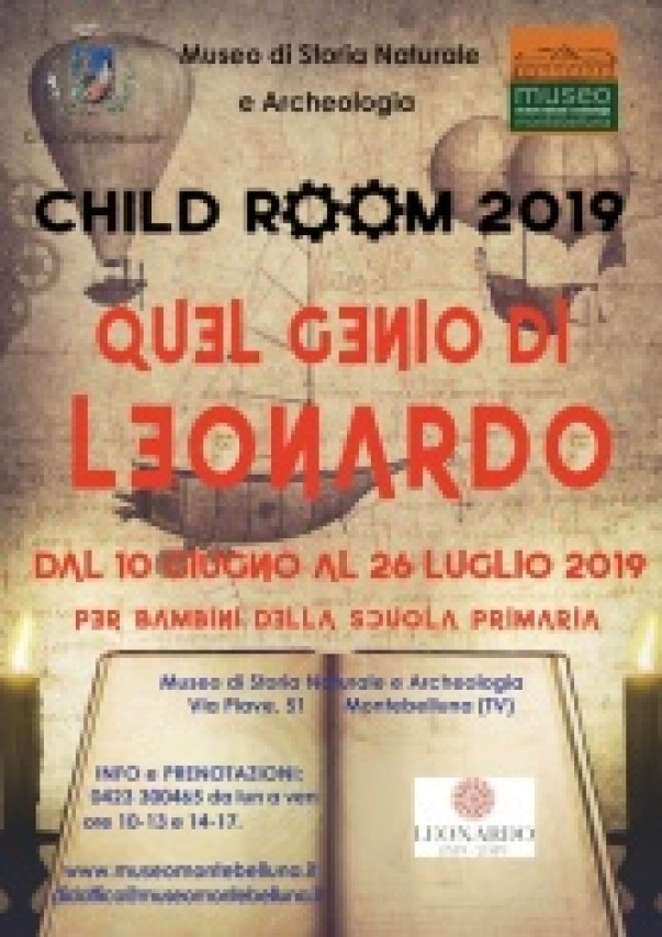 CHILD ROOM 2019. QUEL GENIO DI LEONARDO