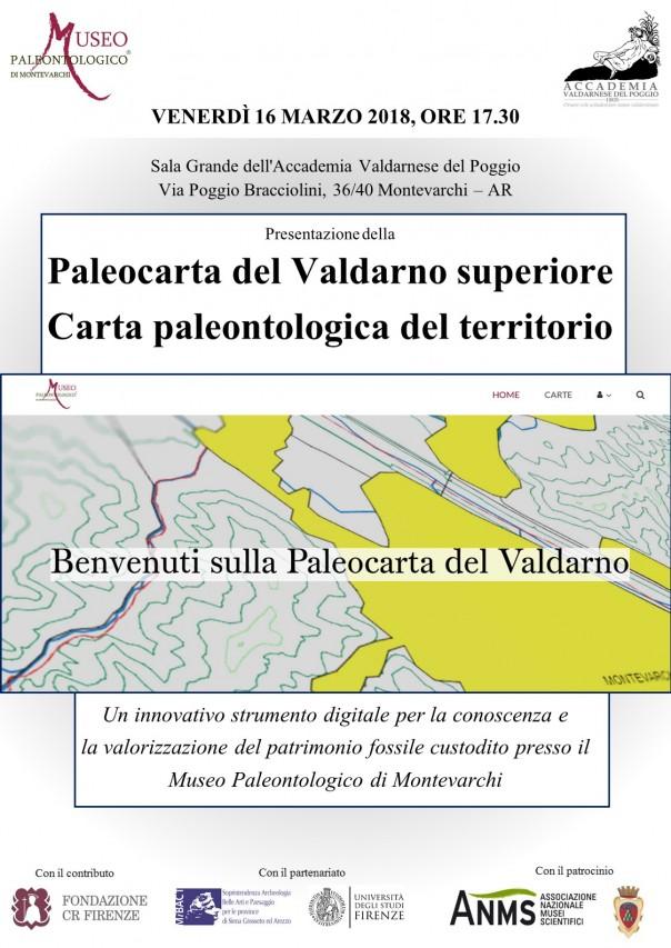 Presentazione della 'Paleocarta del Valdarno superiore. Carta Paleontologica del territorio'