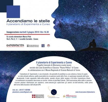 Il planetario di Experimenta a Io Lavoro a Cuneo