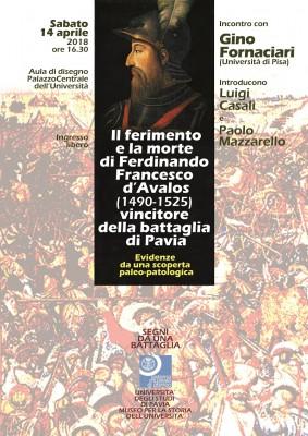 Il ferimento e la morte di  Ferdinando Francesco d'Avalos (1490-1525), vincitore della battaglia di Pavia. Evidenze di una scoperta paleo-patologica