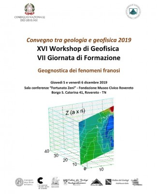 Tra Geologia e Geofisica 2019   XVI Workshop in Geofisica e VII Giornata di Formazione
