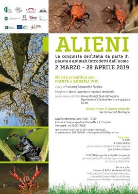 """""""ALIENI: la conquista dell'Italia da parte di piante e animali introdotti dall'uomo."""" Mostra scientifica con piante e animali vivi"""