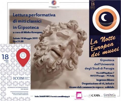 Notte europea dei musei e Giornata internazionale dei musei presso Gipsoteca Università di Perugia
