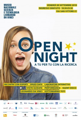 OPEN NIGHT. A TU PER TU CON LA RICERCA