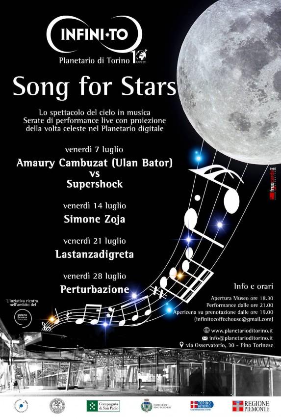 SONG FOR STARS. Lo spettacolo del cielo in musica