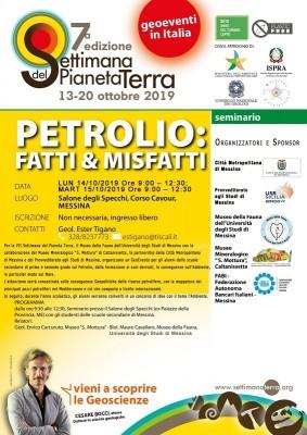 """SETTIMANA PIANETA TERRA """"PETROLIO: FATTI&MISFATTI"""""""