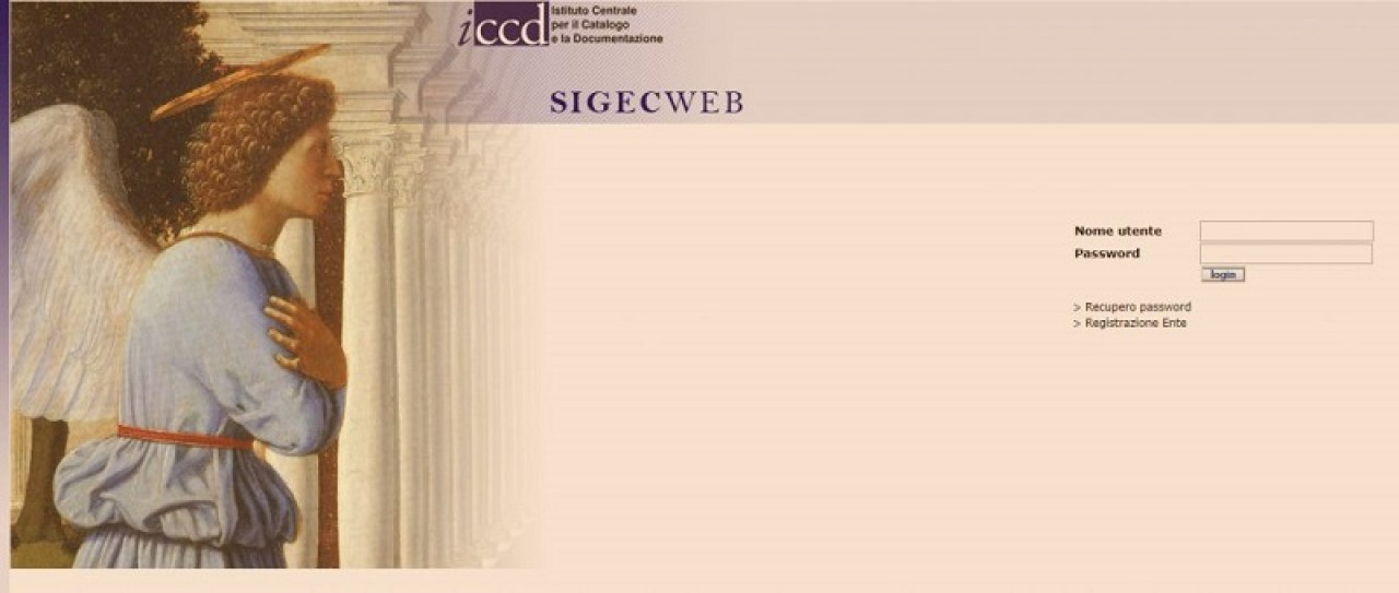 """Aperte le iscrizioni al """"Corso di formazione in Catalogazione dei beni culturali secondo il sistema informativo SIGECWEB"""""""
