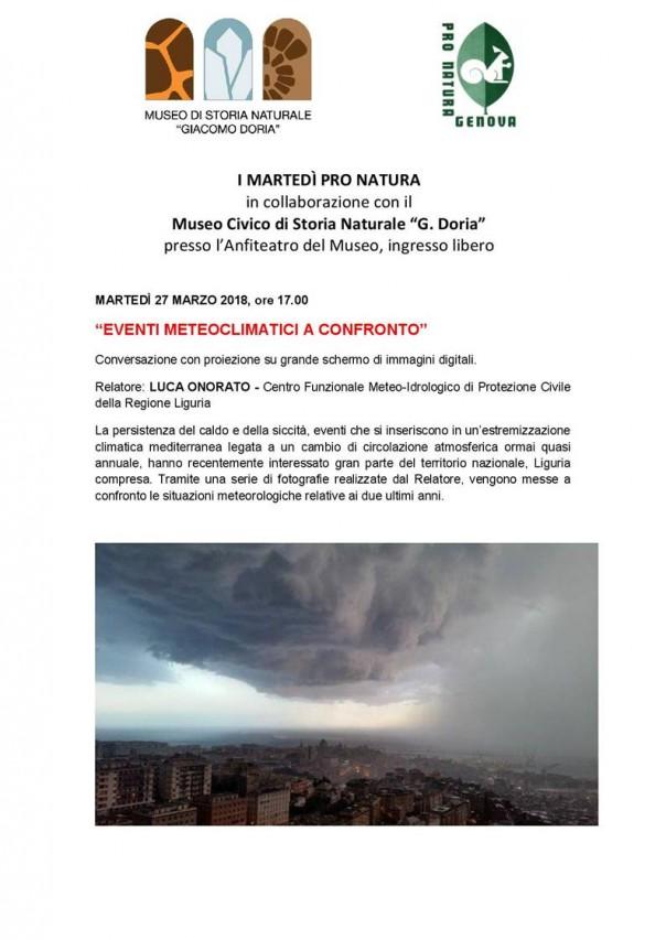Eventi meteoclimatici a confronto