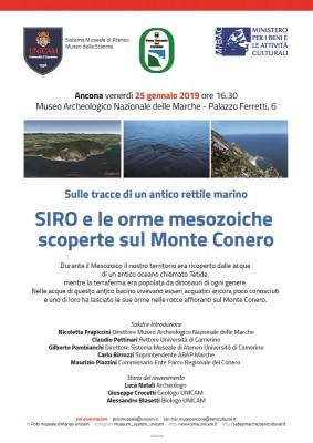 SIRO e le orme mesozoiche scoperte sul Monte Conero