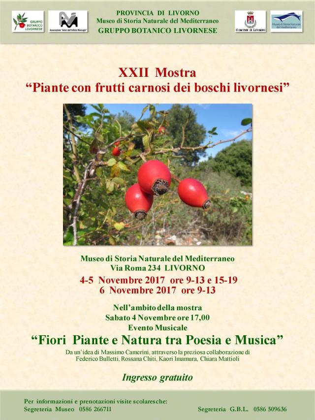 """XXII Mostra """"Piante con frutti carnosi dei boschi livornesi"""""""