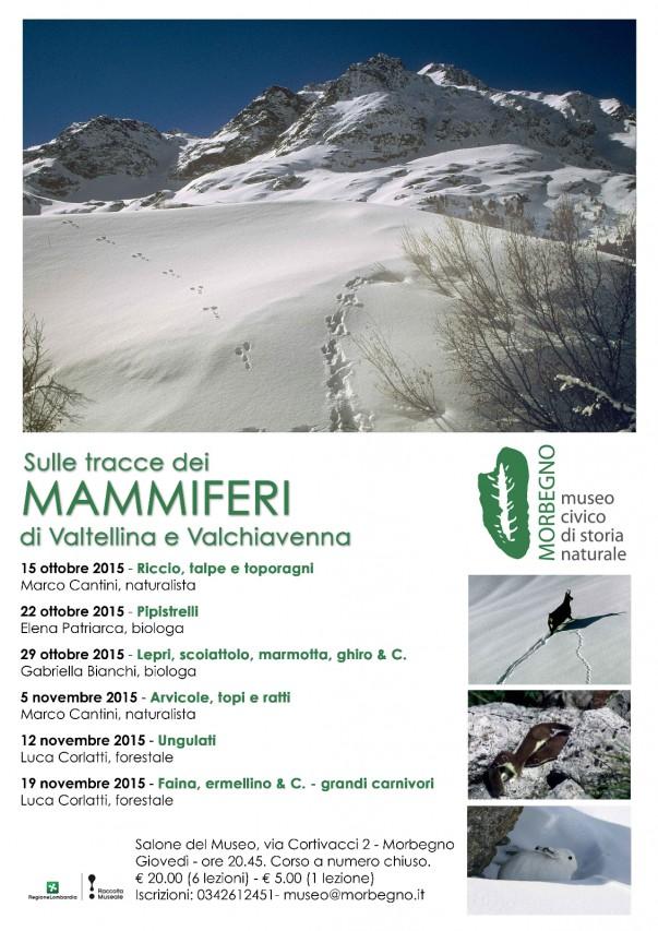 SULLE TRACCE DEI MAMMIFERI di Valtellina e Valchiavenna